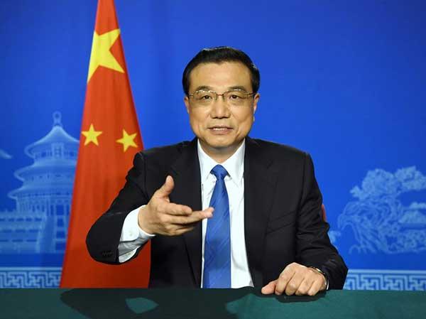 李克强向二十国集团财长和央行行长会议发表视频讲话